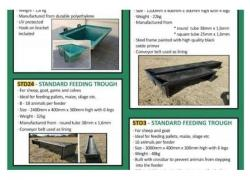Livestock feed Feeding troughs